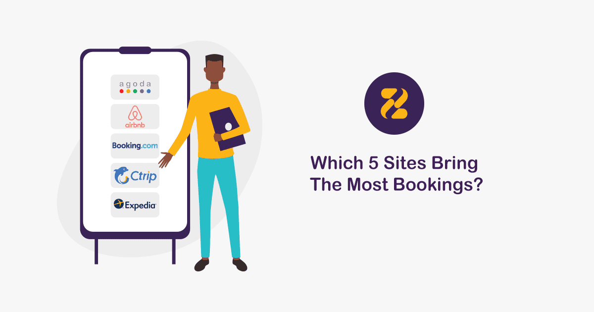 Which 5 Sites Bring The Most Bookings?
