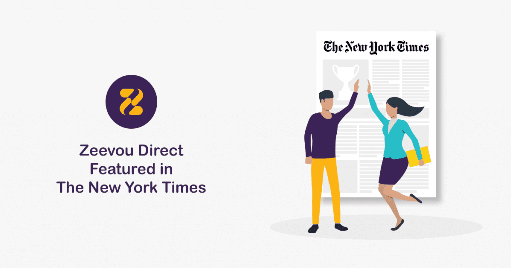Zeevou's Commission-free Booking Platform, Zeevou Direct, Featured in The New York Times