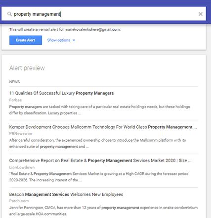 Google Alert for Keywords- Zeevou