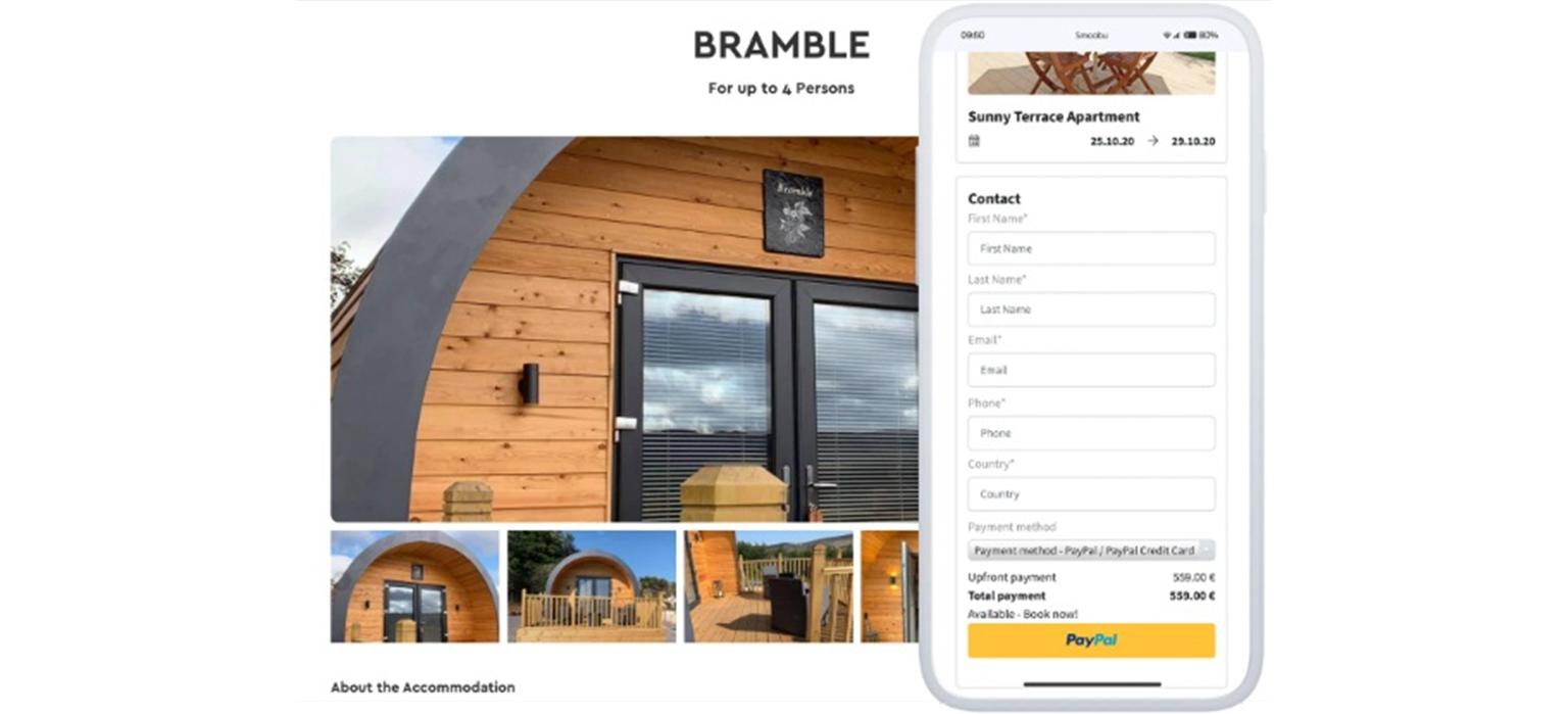 Direct booking website Smoobu