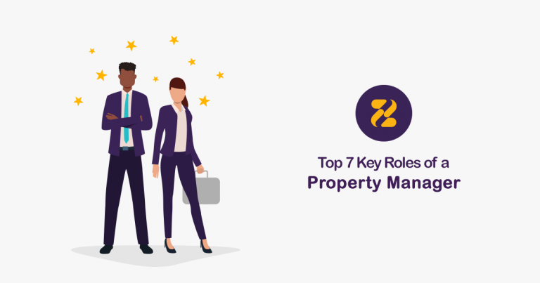 Roles of a Property Manager- Zeevou- Business man and woman vector
