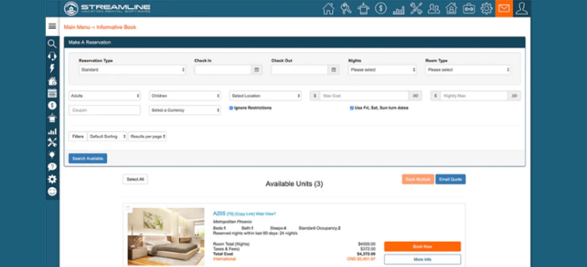 Sreamline direct booking website-Zeevou vs Streamline