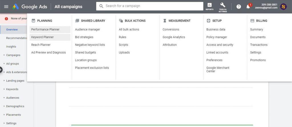 Google keyword planner for vacation rental SEO - Zeevou