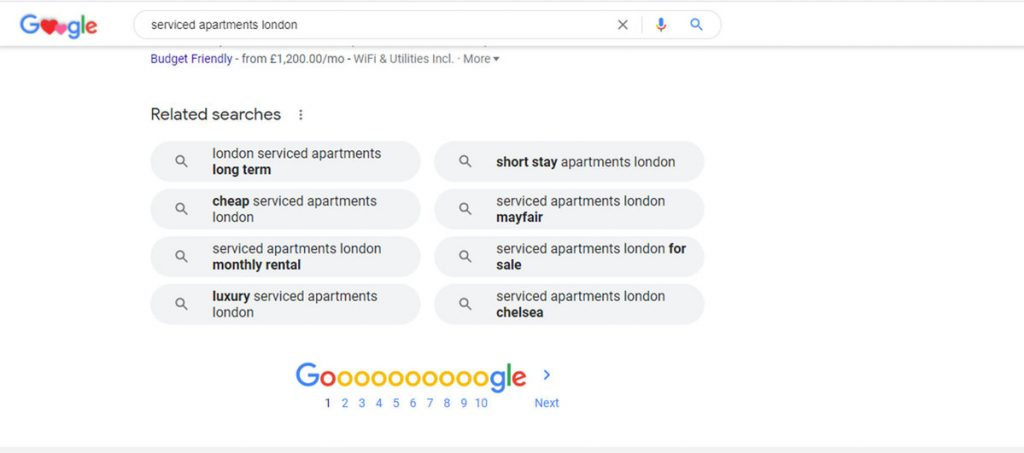 Google for doing keyword research for vacation rentals- Zeevou