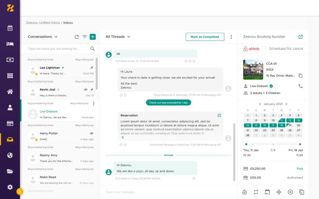 Zeevou unified inbox conversations-Zeevou