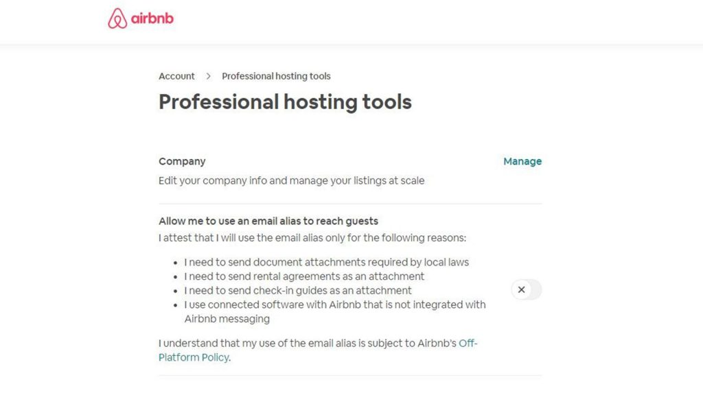 Airbnb hosting page setting- Zeevou